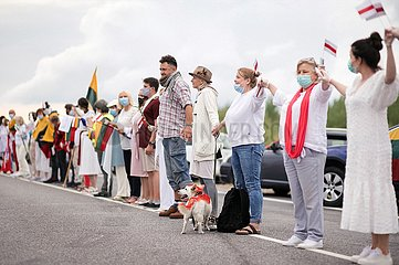 Menschenkette Litauen - Belarus | human chain Lithuania - Belarus