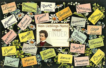 Frauennamen  Humor  1905
