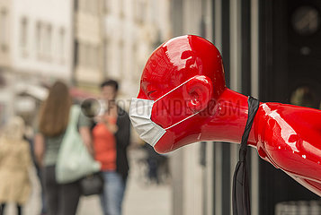Maskenpflicht in Muenchener Geschaeften  Mai 2020