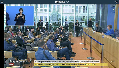 Screenshot Angela Merkel  Bundespressekonferenz