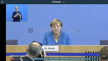 Screenshot Angela Merkel  Bundespressekonferenz