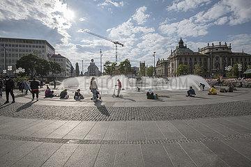 Karlsplatz Stachus  Muenchen  Mai 2020