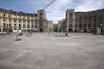 Stachus  Karlsplatz  Muenchen  April 2020
