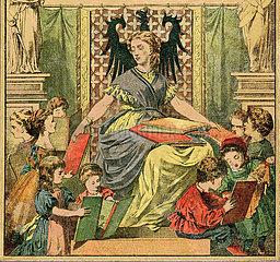 Deutsches Familienbuch  Anschauungsbuch zum Selbstunterricht fuer Kinder  1871