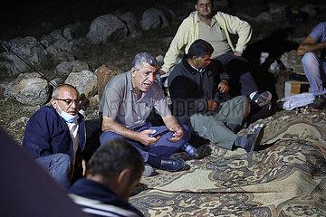 MIDEAST-DURA-PALESTINIAN VILLAGERS-LÄNDER-ISRAELISCHE SEIZURE-PROTECTION