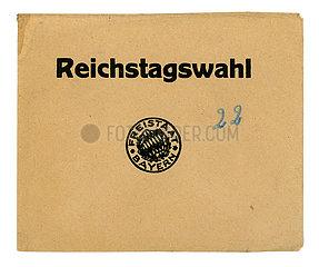 Wahlumschlag zur Reichstagswahl 1932