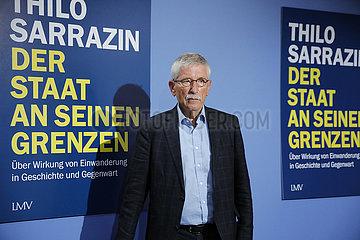 Pressekonferenz: Buchvorstellung des neuen Buchs von Thilo Sarrazin mit dem Titel Der Staat an seinen Grenzen