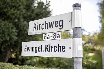 Kirchweg  Evangelische Kirche