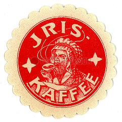 Iris Kaffee  Werbung  Speyer  1910