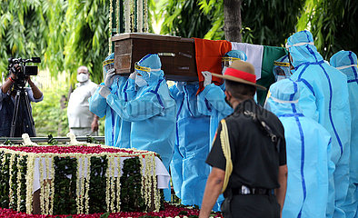 INDIA-NEW DELHI-FORMER PRESIDENT-LAST RITES