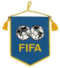 alter Tischwimpel FIFA  Weltfussballverband  um 1978