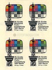 Aufkleber zur 25. Grosse Deutsche Funkausstellung 1967 in Berlin