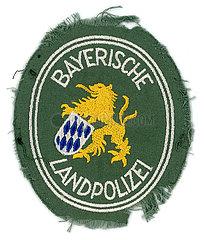 Bayerische Landpolizei  alter Aufnaeher aus den 1960er Jahren