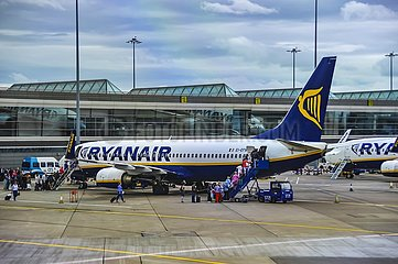 Ryanair Maschinen auf dem Dubliner Flughafen | Ryanair aircraft at Dublin Airport