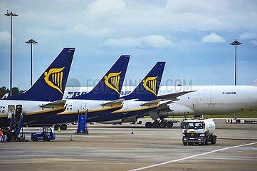 Ryanair Maschinen auf dem Dubliner Flughafen | Ryanair machines at Dublin Airport