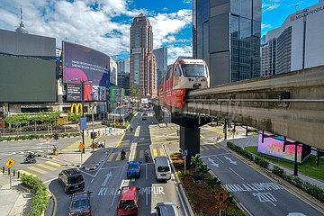 (CitySketch) MALAYSIA-Kuala Lumpur-reizende Stadt