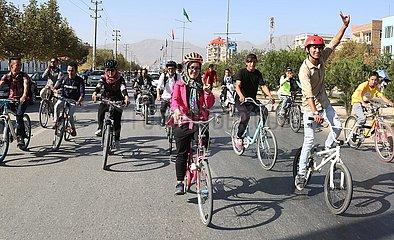 AFGHANISTAN-KABUL- Cyclo-Veranstaltung