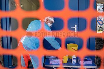 SLOWENIEN-LJUBLJANA-COVID-19-TEMPORARY SCREENING CENTER