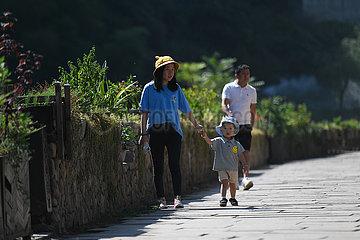 CHINA-ZHEJIANG-TONGLU-Land-Tourismus (CN)
