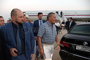SYRIEN-DAMASKUS-SENIOR russische Delegation-Ankunft