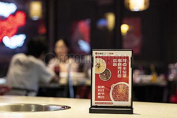 CHINA-SICHUAN-CHENGDU-Restaurant-FOOD Abfallreduzierung (CN)