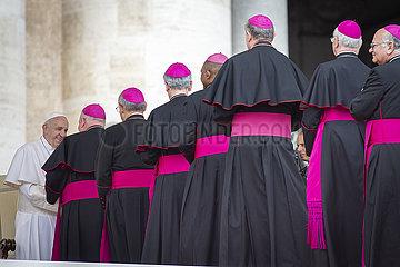 Pabst Fanziskus  Vatikan  Audienz