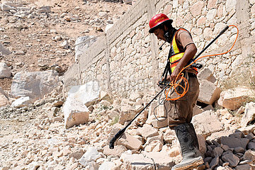 PAKISTAN-Mohmand-MARBLE MINE-ROCK SLIDE