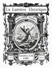 Titelbild der Zeitschrift La Lumière Electrique  Paris  1890