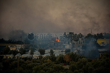 GRIECHENLAND-LESVOS-MORIA-Flüchtlingslager-FIRE