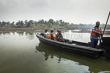 Oelkatastrophe in den Mangroven des Nigerdelta