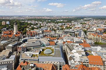 Stadtpanorama  Altstadt  Rathaus  Leipzig  Sachsen  Deutschland