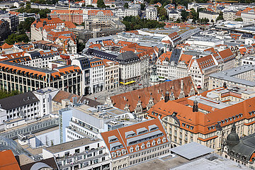 Altstadt  Marktplatz  Leipzig  Sachsen  Deutschland