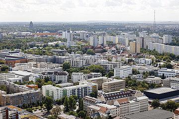 Stadtpanorama  Suedvorstadt  Leipzig  Sachsen  Deutschland