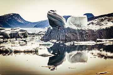 Groenlandeis - Eisschmelze am Narssap Sermia Gletscher