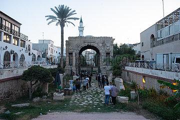 Libyen-TRIPOLIS KULTURELLE EVENT-COVID-19