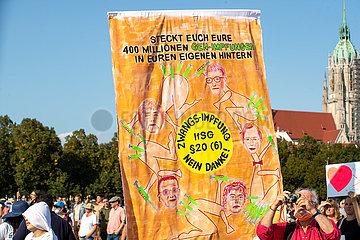 Demo gegen die Maskenpflicht und die Corona Maßnahmen