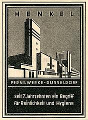 Werbung fuer Henkel Persilwerke Duesseldorf  1947