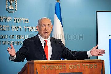 MIDEAST-JERUSALEM-NETANJAHU-COVID-19-LOCKDOWN MIDEAST-JERUSALEM-NETANJAHU-COVID-19-LOCKDOWN