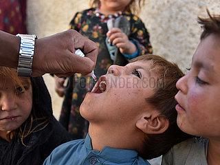 AFGHANISTAN-KANDAHAR-Polio-IMPFUNG