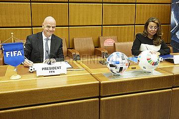 (SP) ÖSTERREICH-VIENNA-FUSSBALL-FIFA und UNODC