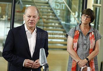 Pressekonferenz SPD   Willy-Brandt-Haus  14. September 2020