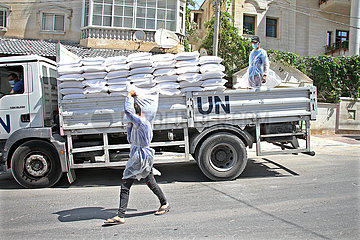 MIDEAST-GAZA-STADT-UNRWA-FOOD-DISTRIBUTION