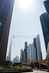 Dubai  United Arab Emirates  September 2020- View on the Dubai Financial center