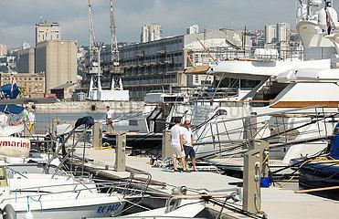 Kroatien  Rijeka - Yachthafen beim Stadtzentrum
