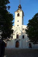 Kroatien  Rijeka - Basilika Unserer Lieben Frau von Trsat. Wurde 2003 von Papst Paul Johannes II besucht