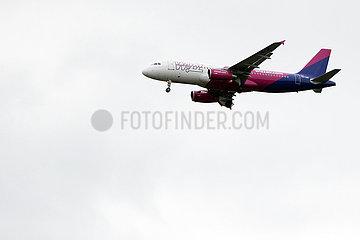Hannover  Deutschland  A320 der Fluggesellschaft Wizz Air