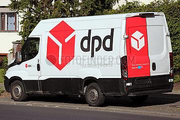Berlin  Deutschland  Lieferwagen von dpd