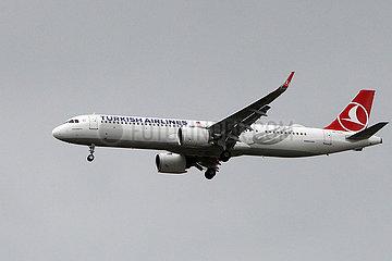 Hannover  Deutschland  A321 der Fluggesellschaft Turkish Airlines