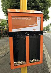 Berlin  Deutschland  Ballot Bin-Aschenbecher der BSR