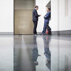 Michael Kretschmer und Roland Woeller